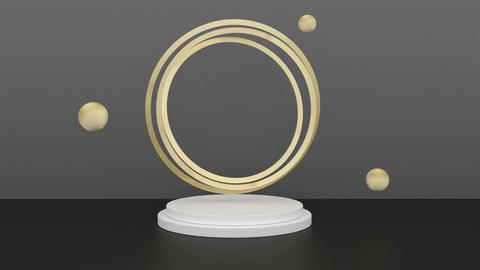 Black and gold 3d mock up scene podium Modern interior Concept art Business Animation