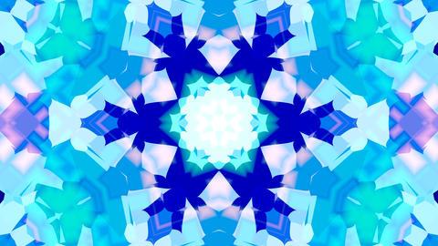 Blue and light blue kaleidoscope, beautiful geometric pattern loop compatible Animation