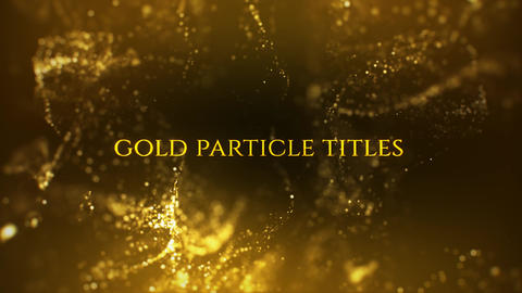 Gold Particle Titles After Effects Template
