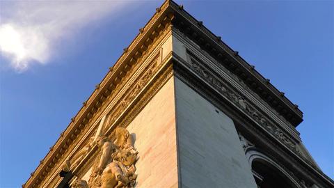 Architectural detail: Arc de Triomphe in Paris, France Live Action
