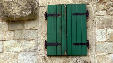 Architectural detail in ancient Split, Croatia Live Action