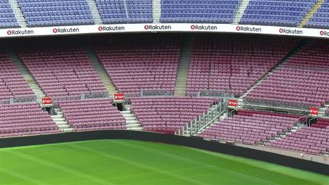 Camp Nou stadium, FC Barcelona, Spain Live Action