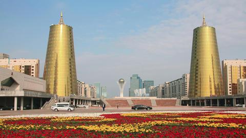 Astana Bayterek 4K Flowers Zoom Animation