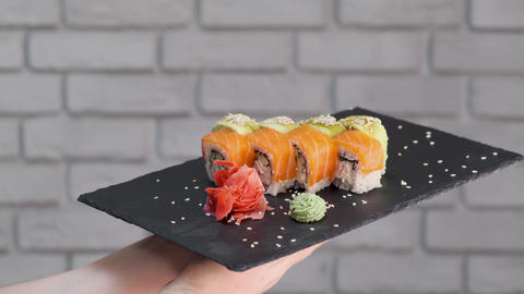 Sushi Rolls Video Background. 2