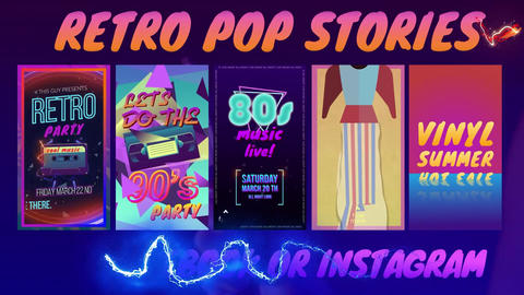 Retro Pop Stories After Effects Template