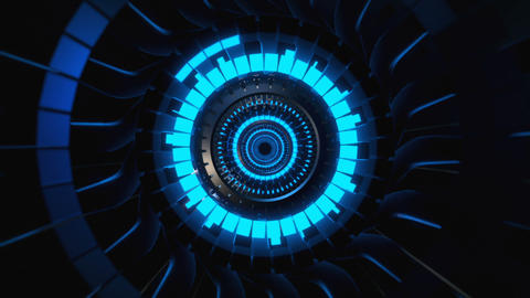 Futuristic 3D Tunnel Animation
