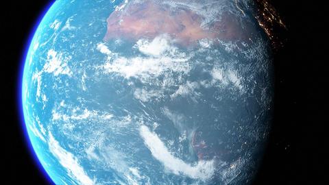 Blue Earth rotating Planet rotating world rotating Earth zoom Planet zoom world zoom Animation