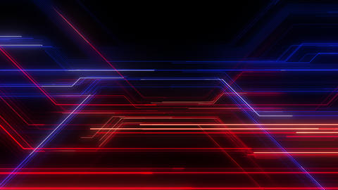 Digital Circuit Network Technology internet data space Background a Blue Red2 Animation