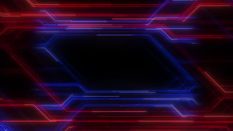 Digital Circuit Network Technology internet data space Background a Blue Red3 Animation