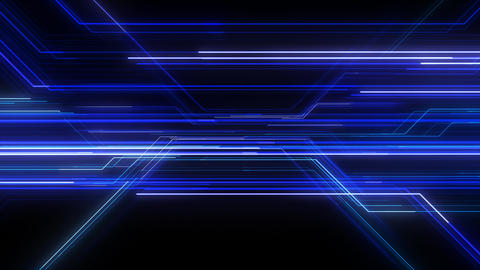 Digital Circuit Network Technology internet data space Background a Blue1 Animation