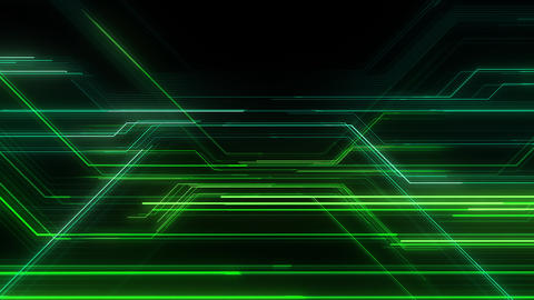 Digital Circuit Network Technology internet data space Background a Green2 Animation