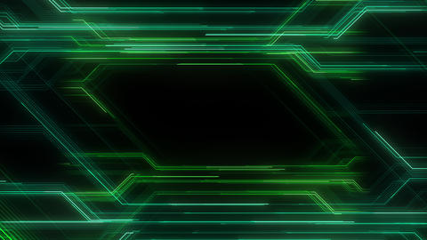 Digital Circuit Network Technology internet data space Background a Green3 Animation