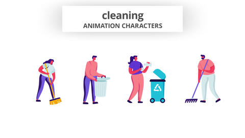 Cleaning - Character Set After Effects Template