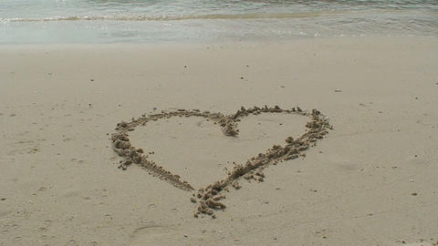 Heart at the beach Stock Video Footage