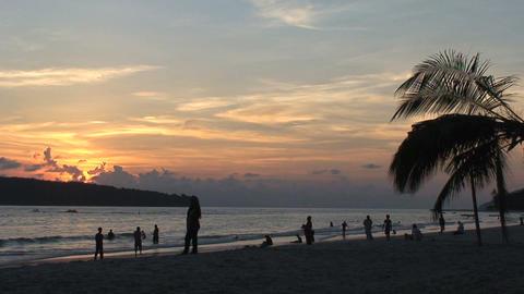 Beach sunset Stock Video Footage