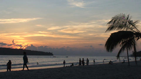 Beach sunset Footage