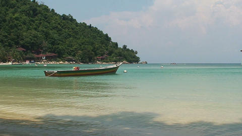 Boat at the Perhentian Islands Footage