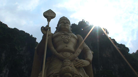 Murugan statue Stock Video Footage