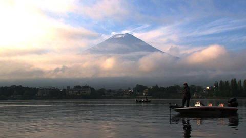 Mount Fuji fishing Stock Video Footage