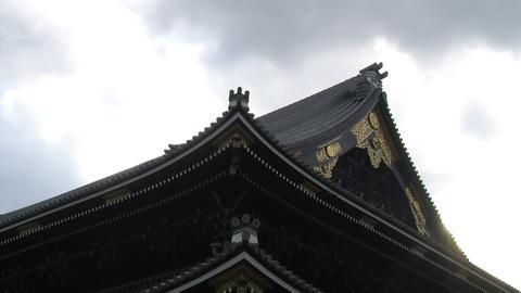 Nishihonganji roof timelapse Stock Video Footage