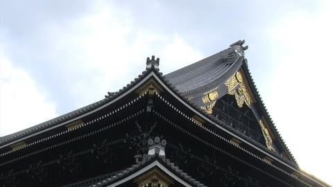 Nishihonganji roof timelapse Stock Video Footage