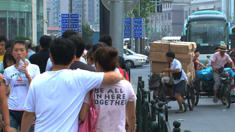 Street scene Shanghai Stock Video Footage