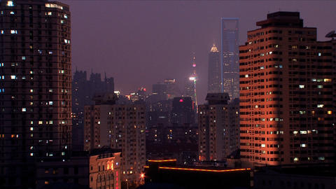 Downtown Shanghai Footage