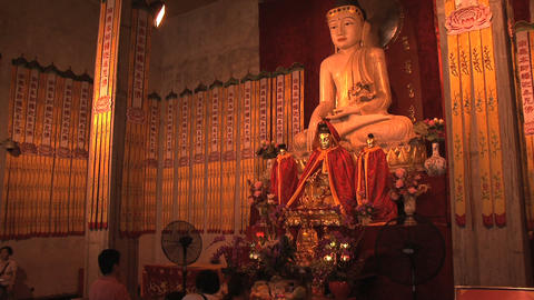 Jing'an Temple budha Stock Video Footage