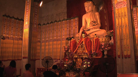 Jing'an Temple budha Footage