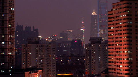 Urban view city Shanghai Stock Video Footage