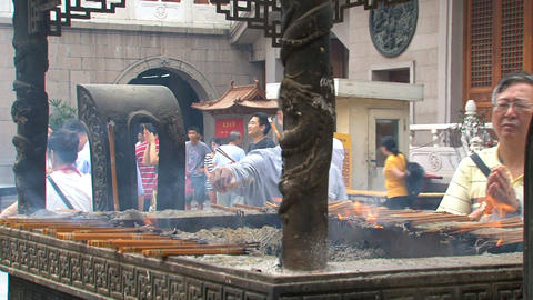 Jing'an Temple pray Footage