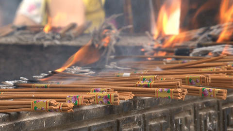 incense offer Stock Video Footage