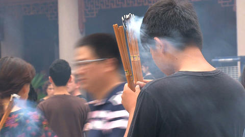 Praying Jing'an Temple Stock Video Footage