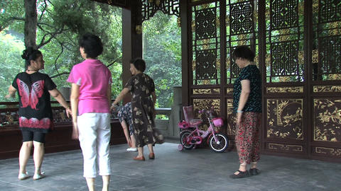 Chinese people dancing Footage