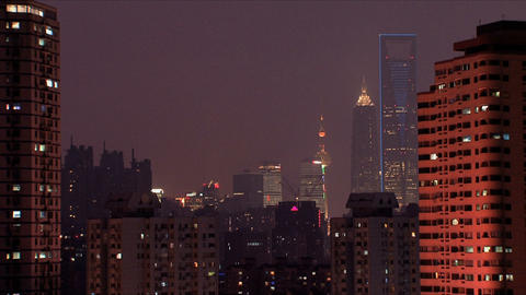 Zoom in Shanghai city Stock Video Footage