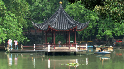 Pond Jing an park Footage