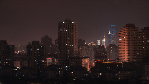 Urban city view Stock Video Footage
