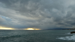 Storm Timelapse In The Sea stock footage