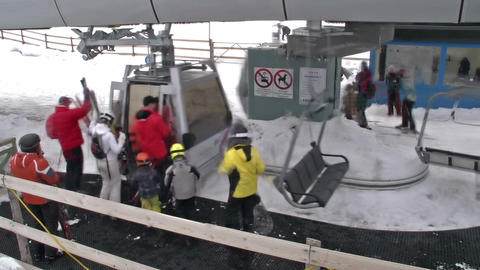 Ski lift station Footage