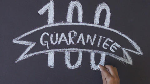 100 Percent Guarantee stock footage