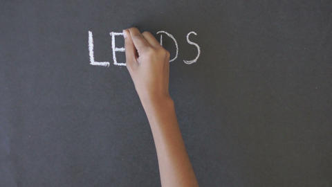 Leads, prospects, customers formula Stock Video Footage
