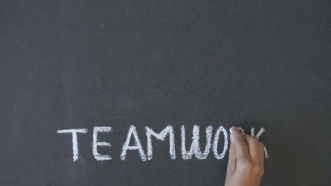 Teamwork Diagram Stock Video Footage