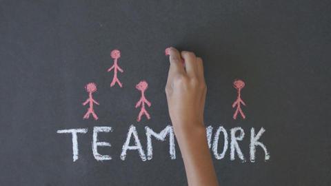 Teamwork Diagram Footage