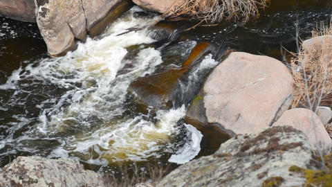 landscape with river Stock Video Footage
