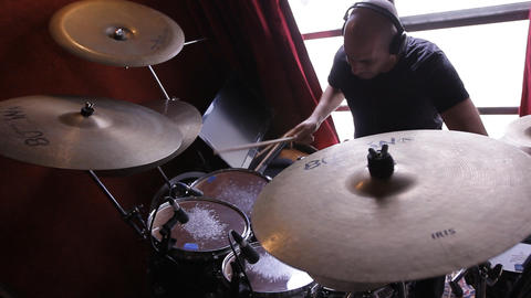 drumming rhythm drumstick percussion blues jazz... Stock Video Footage