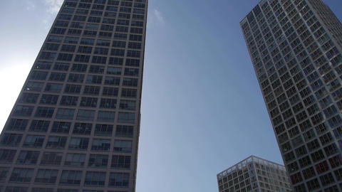 tall office buildings in Beijing Stock Video Footage