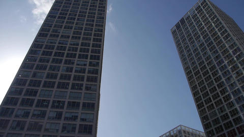 tall office buildings in Beijing Footage