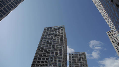time lapse clouds over CBD office buildings Stock Video Footage