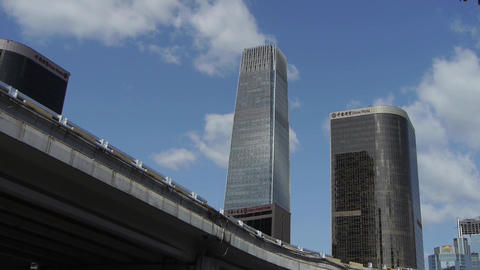 city financial district,business office buildings in... Stock Video Footage