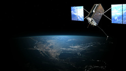 Satellite in the space Animation